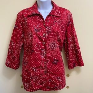 Alia Red Summer Print Top size 12P